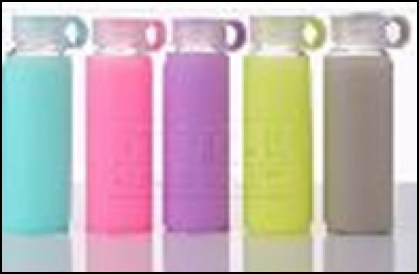 Bình nước thuỷ tinh 280ml kèm túi silicone
